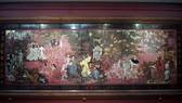 """Bức tranh """"Vườn Xuân Bắc Trung Nam"""" trước khi bị can thiệp. Nguồn: Quỹ Di sản"""