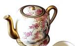 Sakura depicted on Satsuma ceramics