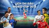 LỊCH TRUYỀN HÌNH TRỰC TIẾP WORLD CUP 2018 - ĐÀI HTV