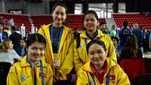 Bốn nữ kỳ thủ Việt Nam giành chiến thắng ở trận thứ 3.