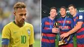 Neymar vẫn nhớ những ngảy vui ỡ Barcelona cvùng Messi và Luis Suarez.