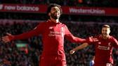 Mo Salah ăn mừng bàn thắng