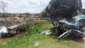 Hiện trường vụ tai nạn khiến 3 người chết tại chỗ