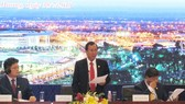 Ông Trần Văn Nam, Bí thư Tỉnh ủy Bình Dương phát biểu tại hội nghị. Ảnh: XUÂN TRUNG