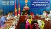 Phó Trưởng đoàn Đại biểu Quốc hội TPHCM Văn Thị Bạch Tuyết phát biểu tại buổi làm việc