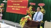 Đồng chí Trần Lưu Quang, Ủy viên Trung ương Đảng, Phó Bí thư Thường Trực Thành ủy TPHCM phát biểu tại buổi khai giảng. Ảnh: KIỀU PHONG