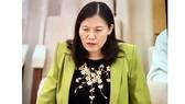 Chủ nhiệm Ủy ban Tư pháp Lê Thị Nga phát biểu tại phiên họp