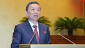 Bộ trưởng Bộ Công an Tô Lâm. Ảnh: quochoi.vn