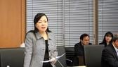 Bộ trưởng Bộ Y tế Nguyễn Thị Kim Tiến phát biểu tại phiên họp