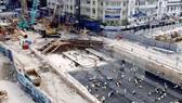 Công trường thi công dự án đường sắt nội đô TPHCM