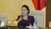 Chủ tịch Quốc hội Nguyễn Thị Kim Ngân phát biểu tại phiên họp