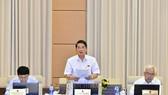Ông Nguyễn Đức Hải, Chủ nhiệm Ủy ban Tài chính, Ngân sách của Quốc hội, Trưởng Đoàn giám sát của UBTVQH