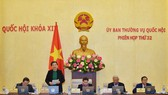 Phó Chủ tịch Thường trực Quốc hội Tòng Thị Phóng điều hành phiên họp