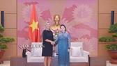 Chủ tịch Quốc hội Nguyễn Thị Kim Ngân đón tiếp Phó Chủ tịch Ủy ban châu Âu, Đại diện cấp cao của EU về chính sách đối ngoại và an ninh Federica Mogherini