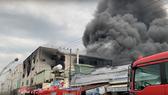 Hiện trường vụ cháy ở KCN Việt Hương
