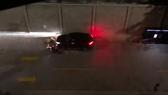 Thanh niên điều khiển ô tô tông xe máy khiến 2 người bị thương