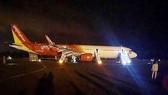 Chiếc máy bay gặp nạn tại sân bay Buôn Ma Thuột