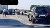 Hiện trường vụ tai nạn trên cao tốc Hà Nội - Thái Nguyên