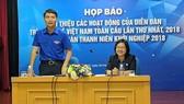 Buổi họp báo thông tin về Diễn đàn tri thức trẻ Việt Nam toàn cầu ần thứ nhất.