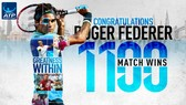 Federer thắng trận thứ 1.100
