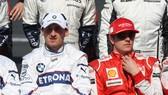 Robert Kubica (trái) và Kimi Raikkonen khi còn trẻ