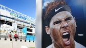 Hình ảnh Rafael Nadal ở sân Rod Laver Arena (Melbourne Park)