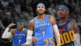 Carmelo Anthony đã đạt được cột mốc 25.000 điểm