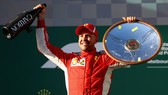 Niềm vui chiến thắng của Sebastian Vettel