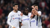Niềm vui chiến thắng của các cầu thủ Chelsea