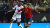 Marco Asensio trong màu áo tuyển Tây Ban Nha