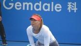 Sharapova trong trận đấu đầu tiên của mùa giải mới