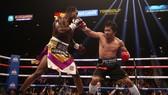 Pacquiao trong trận đấu với Broner
