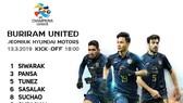 Đội hình chính thức của Buriram (Supachok là cầu thủ ở giữa)