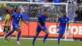Niềm vui chiến thắng của Gaari và các đồng đội ở tuyển Curacao