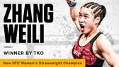 """UFC: Đấng mày râu chưa thấy, """"nữ trung hào kiệt"""" Weili đã mang tự hào về cho làng võ Trung Quốc"""