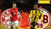 Các tay súng thiện xạ so tài: Robert Lewandowski (Bayern) và Pierre-Emerick Aubameyang (Dortmund). Ảnh: Getty Images.