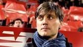 HLV Vincenzo Montella vẫn chưa hết vận đen khi sang dẫn dắt Sevilla. Ảnh: EPA