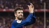Gerard Pique muốn giải nghệ trong màu áo Barcelona. Ảnh: Getty Images.