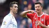 Robert Lewandowski (phải, Bayern) và Cristiasno Ronaldo (Real Madrid)