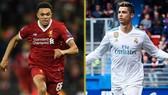 Trent Alexander-Arnold (Liverpool) và  Cristiano Ronaldo (Real Madrid)