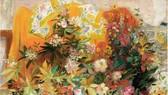 黎譜著名畫家的《花卉》作品成交價14萬8120美元。
