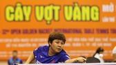 Tay vợt Mai Hoàng Mỹ Trang tại giải Câ vợt vàng năm nay