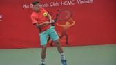 Tay vợt trẻ Huỳnh Minh Thịnh. Ảnh: NHẬT ANH
