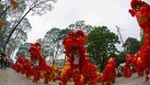 108 lân đồng diễn lập kỷ lục Guinness Việt Nam. Ảnh : Nhật Anh