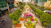 Phối cảnh đường hoa Nguyễn Huệ năm 2019 nhìn từ trên cao. Ảnh: Dũng Phương