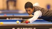 Nguyễn Đức Anh Chiến giành vé đi tiếp vào vòng 1/8 Words cup Billiards 3 băng. Ảnh: Dũng Phương