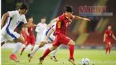 Công Phượng đi bóng trong trận U22 Việt Nam thắng Philippines 4-0 tại SEA Games 2017. Ảnh: DŨNG PHƯƠNG