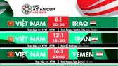 Lịch thi đấu của đội Việt Nam ở vòng bảng. Đồ họa: Hữu Vy