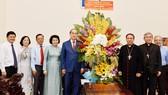 Lãnh đạo TPHCM chúc mừng Giáng sinh Tòa Tổng Giám mục Tổng Giáo phận TPHCM