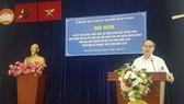 Bí thư Thành ủy TPHCM Nguyễn Thiện Nhân phát biểu tại hội nghị